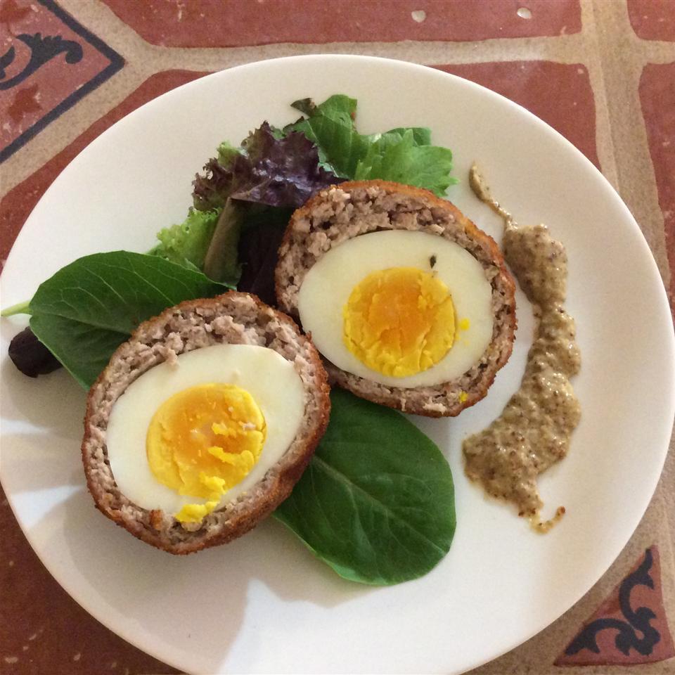 Σκωτσέζικα αυγά με σος μουστάρδας